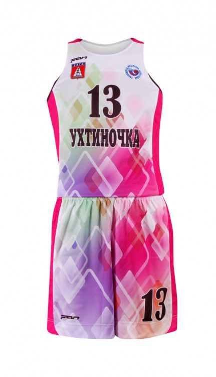 8a6e7c7b Баскетбольная форма БФ-1105 женская Ухтинчока на заказ с сублимационной  печатью